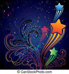 étoile, conception, coloré, élément