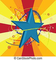 étoile, conception, fond