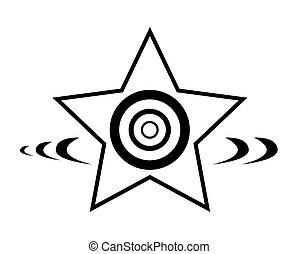 étoile, conception, retro, élément