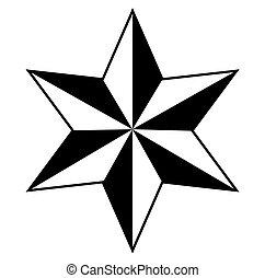 étoile, conception, retro