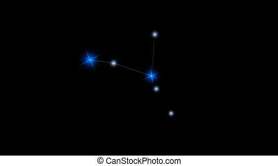 étoile, constellation, cancer.