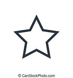 étoile, contour