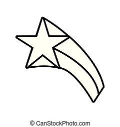 étoile, contour, icône