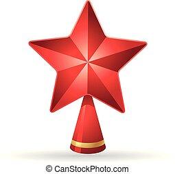 étoile, couleur, arbre, -, noël, icône