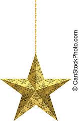 étoile, damassé