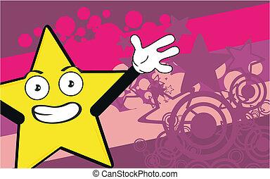 étoile, dessin animé, fond