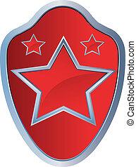 étoile, emblème, rouges