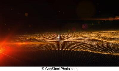 étoile, en mouvement, rouges, animation, numérique, vague