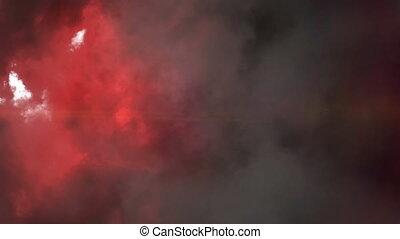 étoile, en mouvement, rouges, frappant, animation, orage,...