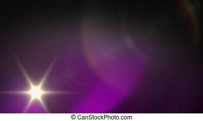 étoile, en mouvement, taches, animation, errant, lumières