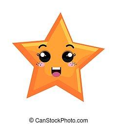étoile, espace, caractère, isolé, icône