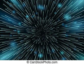 étoile, espace, papier peint, ciel, lumières, vecteur, arrière-plan., étoiles, nuit, action, vitesse