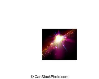étoile, espace, résumé, /, vecteur, fond, brillant
