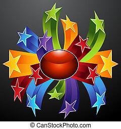 étoile, explosion, icône