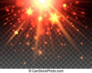 étoile, explosion, transparent, fond
