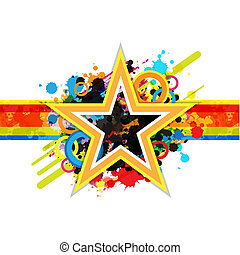 étoile, fantastique, conception, fond