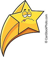 étoile filante, dessin animé, malade