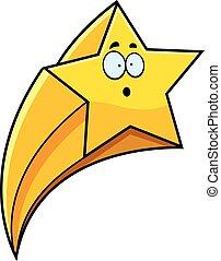 étoile filante, dessin animé, surpris