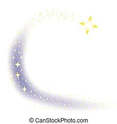 étoile filante, fond
