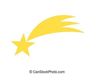 étoile filante, jaune, icône