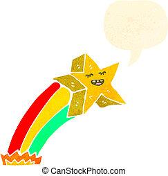 étoile filante, retro, dessin animé