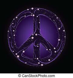 étoile filante, signe paix