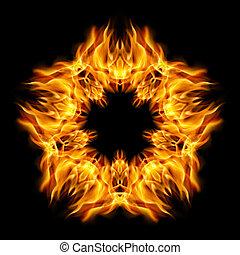 étoile, flamme