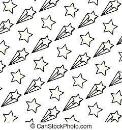 étoile, fond, art, ligne, tir, gentil