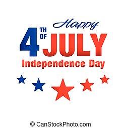 étoile, fond, image, vecteur, cinq, quatrième, juillet, jour, indépendance, heureux