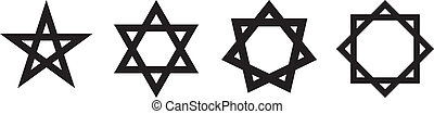 étoile, géométrique, figures, contour