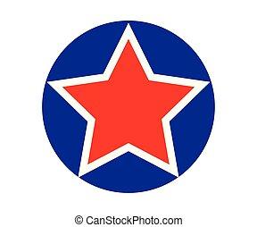 étoile, géométrique, fondamental, forme