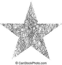 étoile, gribouiller