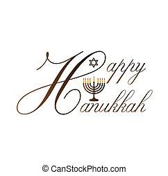 étoile, hanukkah, symbole juif, poster-, célébration, david, vacances, heureux