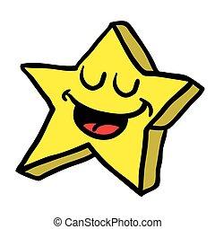 étoile, heureux