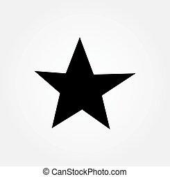 étoile, icon., griffonnage