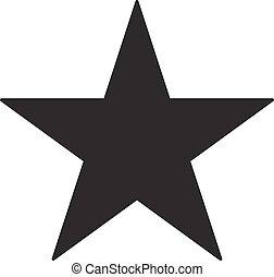 étoile, illustration, arrière-plan., vecteur, noir, blanc, icône