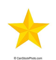 étoile, illustration, vecteur, jaune, blanc, dessin animé, stockage