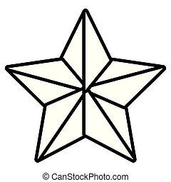étoile, isolé, dessin animé
