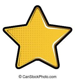 étoile, isolé, icône