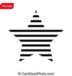 étoile, isolé, toile, symbole, vecteur, blanc, arrière-plan., app, classement, illustration, plat, ton, eps10., branché, style, conception, site, icône, logo, ui.