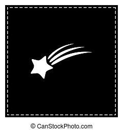 étoile, isolated., signe., pièce, arrière-plan., noir, blanc, tir