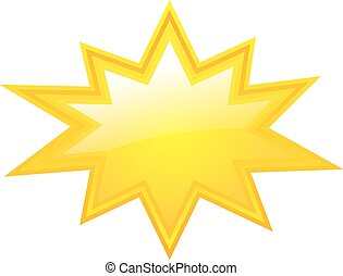 étoile, jaune, éclatement