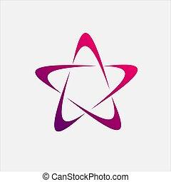 étoile, logo, galaxie