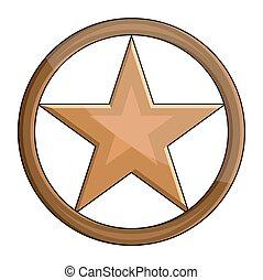 étoile, lustré, retro