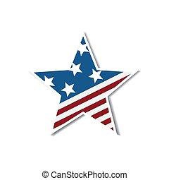 étoile, national, couleurs, drapeau, jour, indépendance