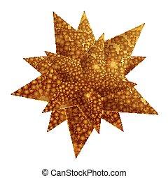étoile, noël, or