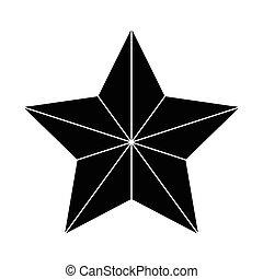 étoile or, contour