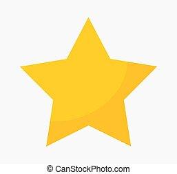 étoile or, icon.