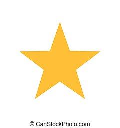 étoile, or, illustration, icône