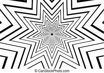 étoile, pointu, vecteur, neuf, noir, résumé